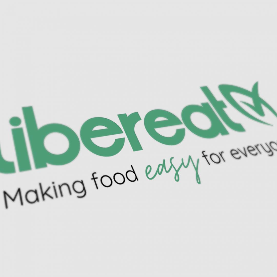 LiberEat Perspective Logo Mockup